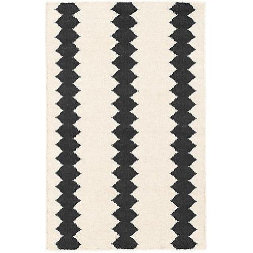 Dhurrie Weave Wool Zig Zag Rug