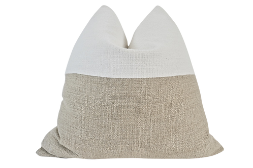 Fragments Identity Refined Hemp Weave Pillow