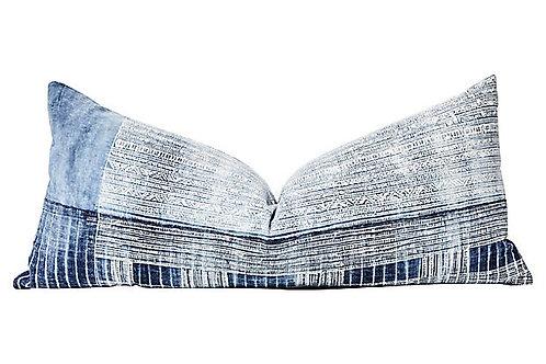 Vintage Hmong Indigo Batik Body Pillow