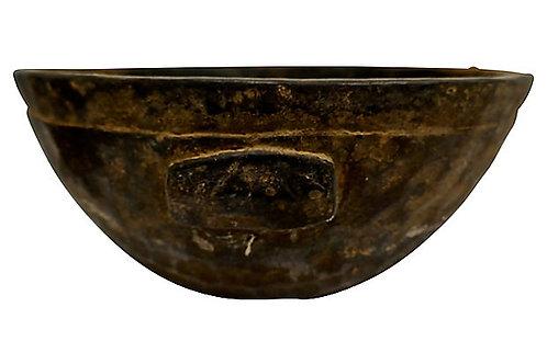 SOLD Vintage Nigerian Hand-Carved Wooden Bowl
