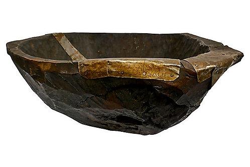 SOLD Primitive European Dough Bowl