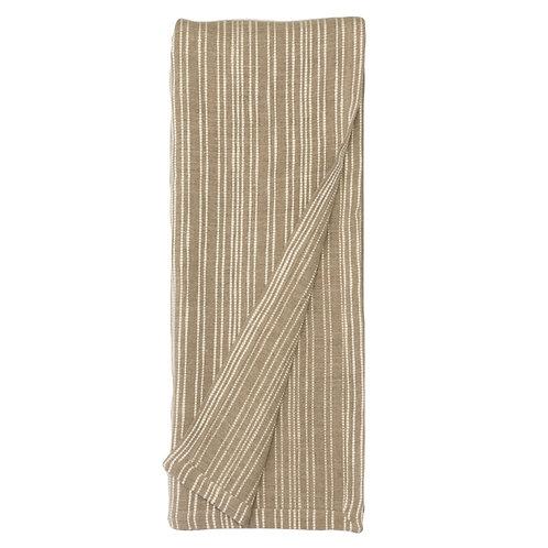 Woven Linen Coastal Throw