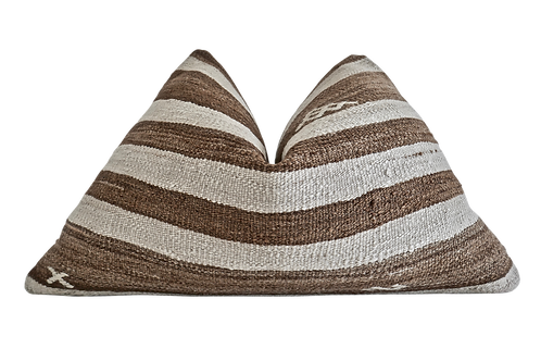 SOLD Fragments identity Vintage Hemp Kilim Pillow