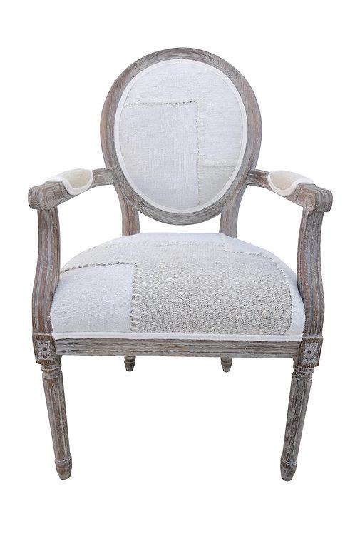 FI Vintage Berber Patchwork Kilim Armchair