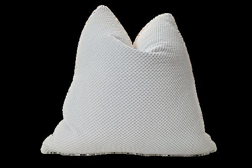 Nubby Chenille & White Linen Pillow, Large