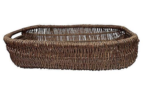 SOLD European Vintage X-Large Flower Basket