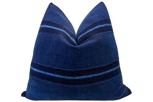 Burkina Faso Vintage Indigo Pillow