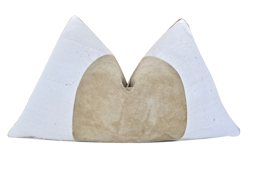 Fragments Identity Italian Suede & Natural Pillow