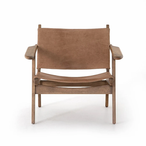 New Buck Leather Sling Chair