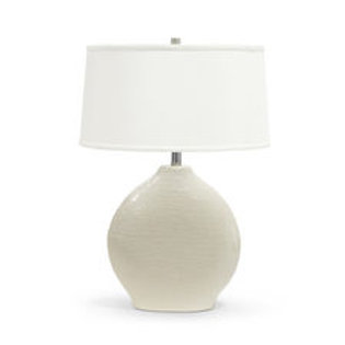 Porcelain w/ Silk Shade Table Lamp, Ivory
