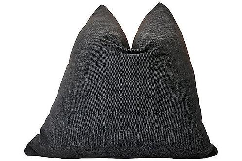 Fi Black Textured Outdoor Pillow