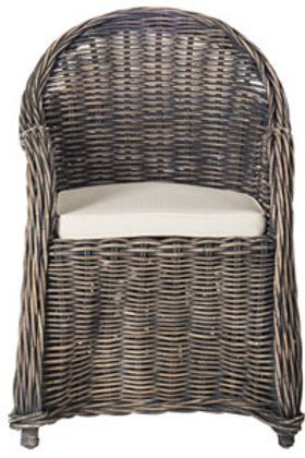 Weathered Wicker Dining Chair