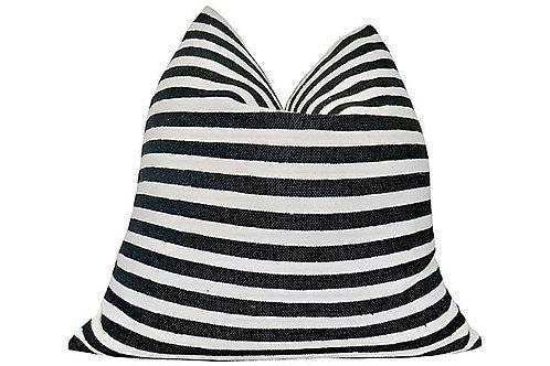 Berber Black + White Stripe Pillow