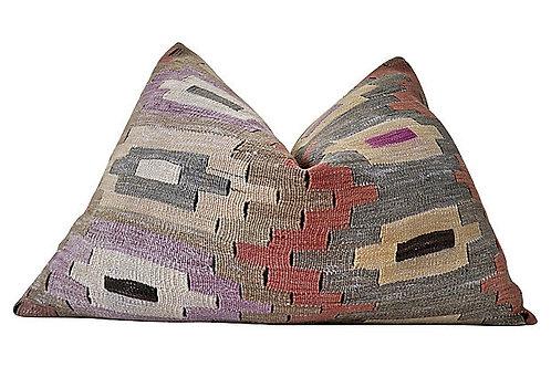 SOLD Berber Kilim Hemp/Wool Tamaya Pillow, XL