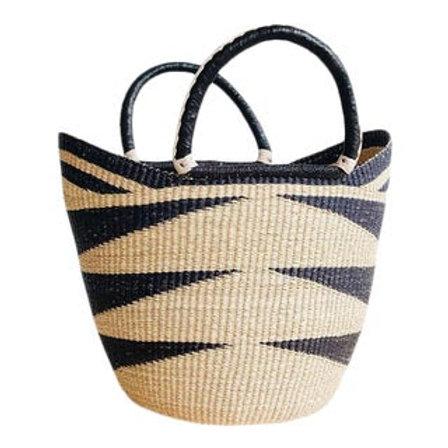 Market Basket w/ Leather Wrap