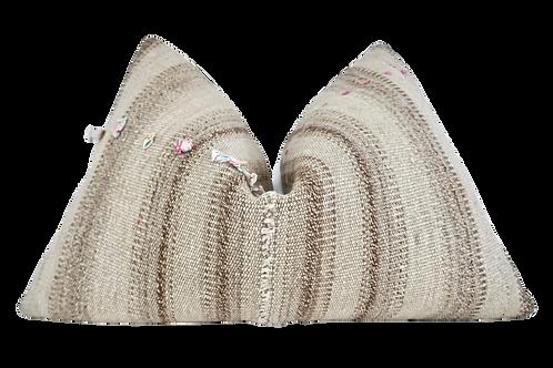 SOLD FI Vintage Berber Kilim Wool & Hemp Pillow