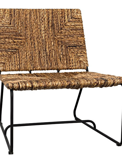 Natural Woven Metal Frame Chair