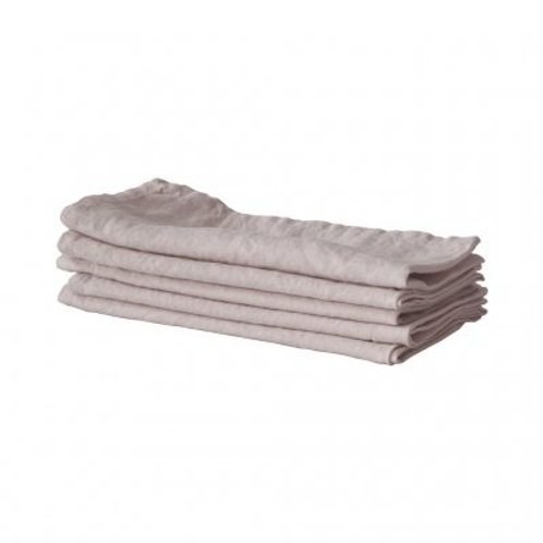 Garment-Washed Blush Linen Table Napkins, set/5