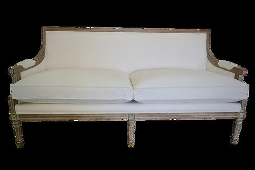 Ivory Velvet Sofa