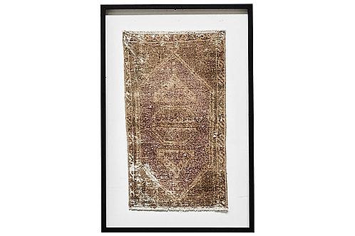 Framed Vintage Oushak Rug