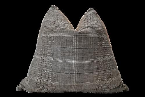 African Tribal Skip-Stitch Hemp pillow