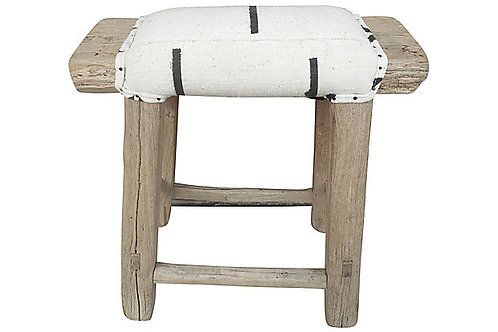 Shandong Stool w/ Black + White Top