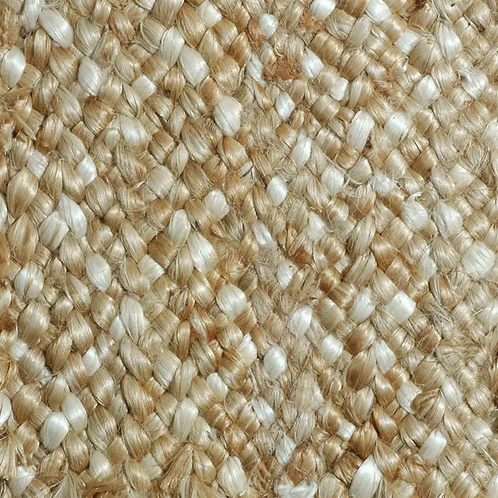 Hand Braided Natural Heavy Jute Rug, 8' x 6'