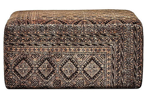 SOLD Persian Vintage Wool Ottoman