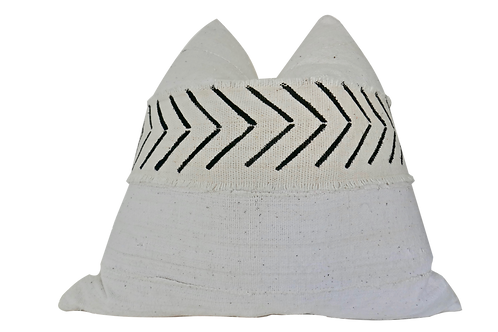 Fragments Identity Natural Banded Pillow