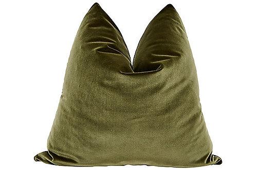 FI - Olive Velvet Luxe Pillow