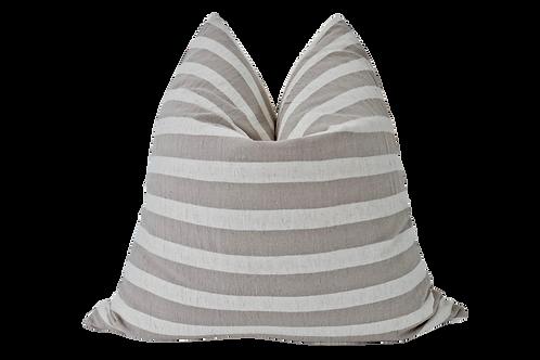 Sand & Natural Organic Washed Cotton Stripe Pillow