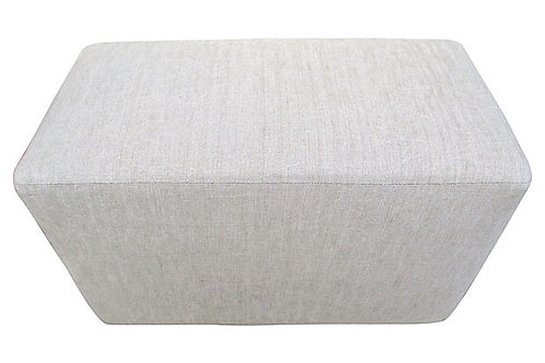 Garment Washed Flax Linen Ottoman / Bench