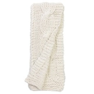 Chunky Off-White Cable-Knit Throw