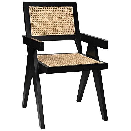 Natural Cane/Black Frame Chair