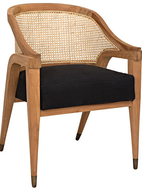 Teak & Cane Accent Chair