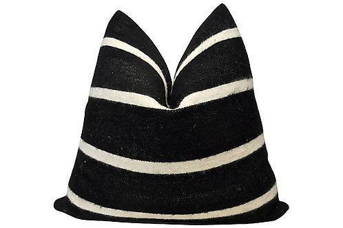 Berber Handloomed Black & White Wool Pillow