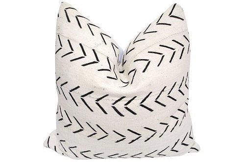 African Tribal Natural Mud Cloth Pillow