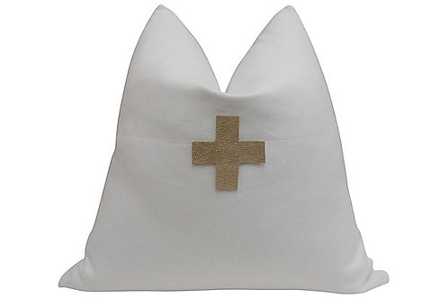 Linen + Suede Pillow