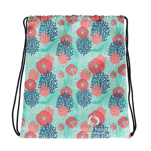 EPI Coral Drawstring Bag