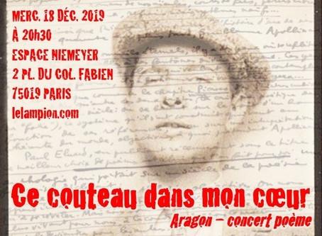 CE COUTEAU DANS MON CŒUR / ARAGON concert-poème