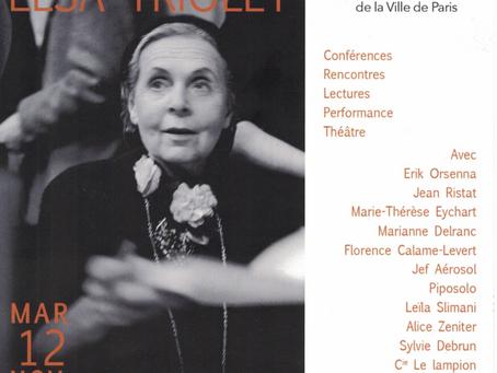75° anniversaire de l'attribution du prix Goncourt à Elsa Triolet