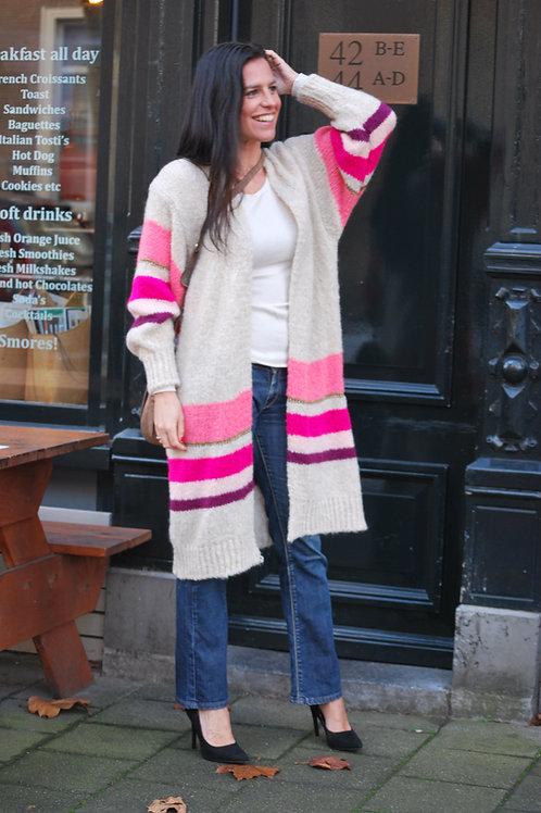Ambika vest streep roze