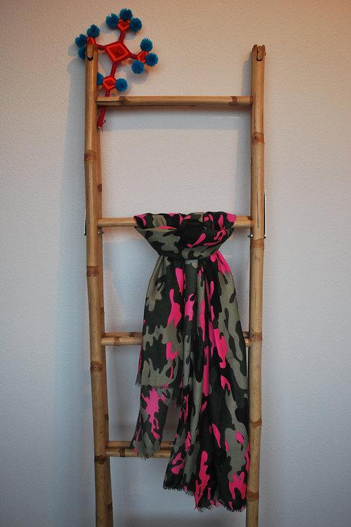 Army sjaal met roze