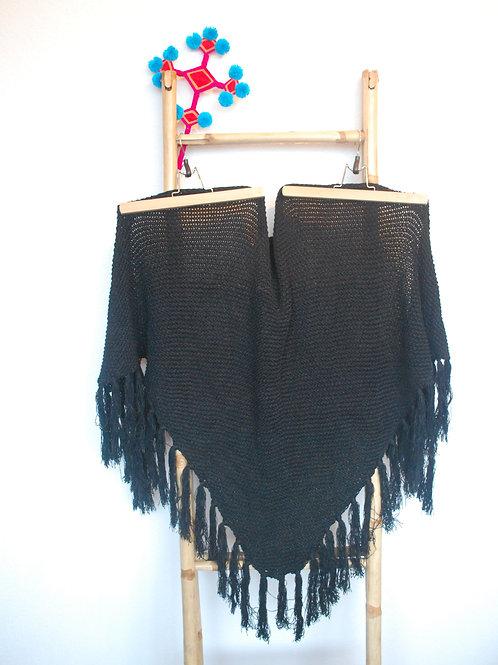 Zwarte driehoek sjaal