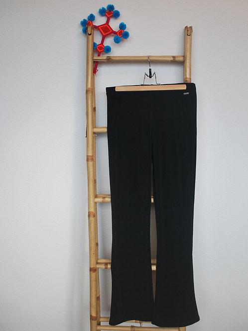 Zwarte flare broek XL
