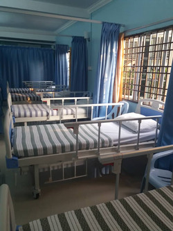 Old Folks home with 4 hospital  beds