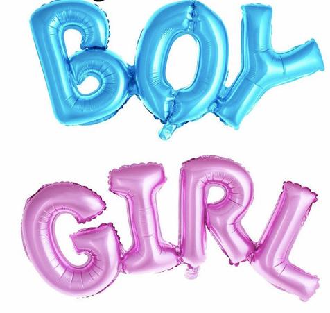 Lot de 50 ballons baby shower brit boy girl