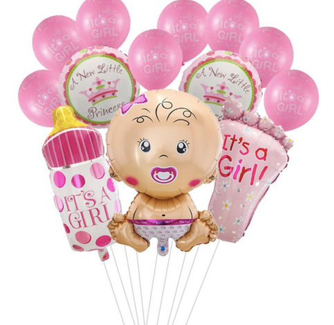Lot de 13 ballons baby shower garçon fille
