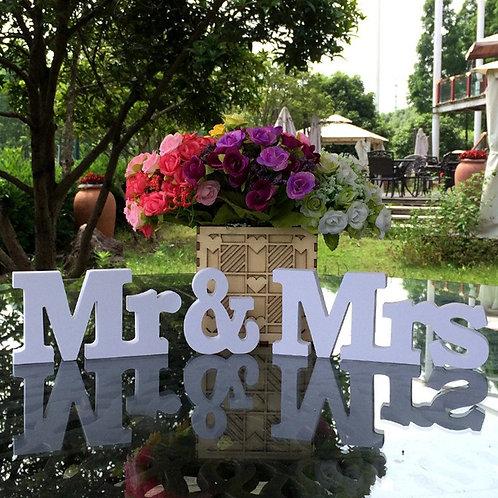 Decoration mariage Mr & Mrs