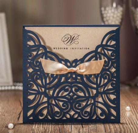 Lot de 50 invitations faire-part mariage